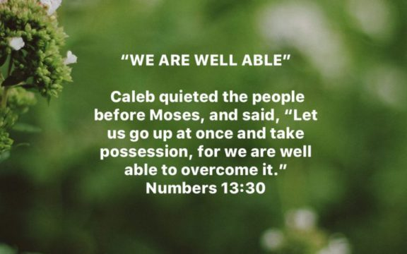 YOU ARE WELL ABLE